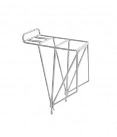 Portabultos M-Part AX4 trasero con 4 vertical spurs plata