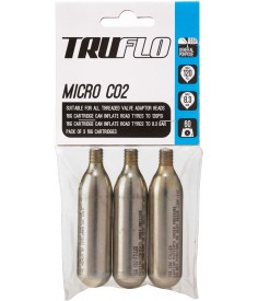 Truflo Micro CO2 pump refill pack (3 x 16 g cartridges), 5 pack