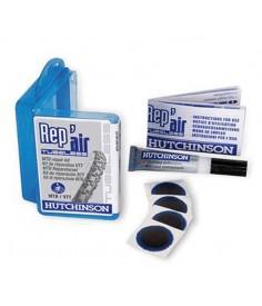 Set reparación Hutchinson MTB tubeless 4 parches + 1 tubo pegamento