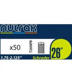 "Pack of 50 nutrak 26"" 1.5-2.0 inner tubes"