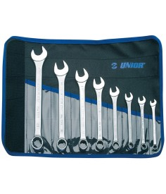 Set de llaves combinadas Unior con bolsa|8-piezas