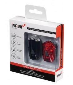 Minibeamer set Infini I-260 RD & RT negro con conexión USB