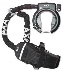 Antirrobo cuadro Axa Defender con RL 100|cadena insertable + bolsa Outdoor Tasche