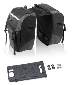XLC Alforja carry more|negro/ant. para XLC sist. portaequipajes