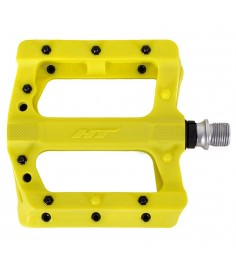 HT PA01 MTB PEDALS WITH METAL PINS NEON YELLOW