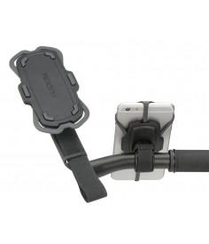 Soporte para Smartphone KLICKfix Loop gris negro con fijacion de velcro