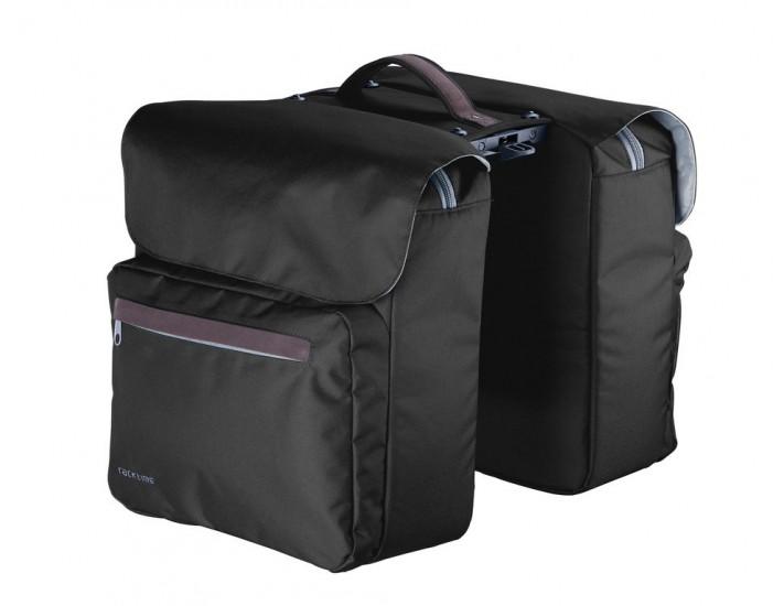 adaptador Snapit Bicicleta Racktime System bolsa doble Heda arena//gris incl