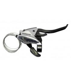 Maneta FC Shimano ST EF 510 4 dedos 7 v derechoV Brake2050mmplata