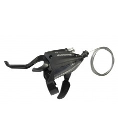 Maneta FC Shimano ST EF 500 2 dedos 3 v izquierdo V Brake 1800mm negro