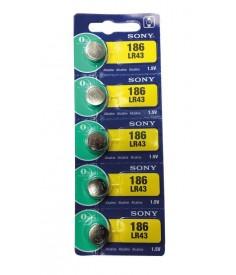 Pilas Sony boton LR43 alcalinalibre de mercurio15 V 110 mAh
