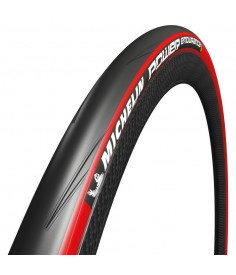 Cubierta Michelin Power Endurance pleg 28 700x25C 25 622 negro rojo