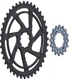 Kit de conversion para cassette Miche 1x10 MTB 1642 dcompatible con Shimano