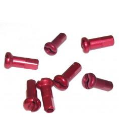 Boquilla de aluminio DT Swiss M 2X12 con cabeza redonda roja