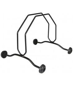 Expositor soporte con 4 rueditas
