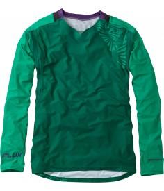 Madison Flux Enduro men's long sleeve jersey, oak green/emerald green