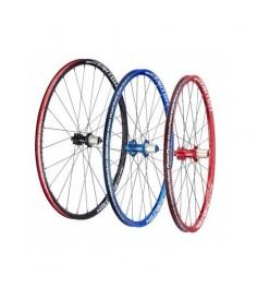Juego de ruedas Funn Fantom XC/AM 650B 28 Radios Rojo