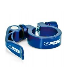 XLC abrazadera para tija PC L04 Ø 349 mm azul con QR
