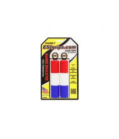 Rumblebikes-ESIgrips Chunky Custom Rojo-Blanco-Azul-Puños